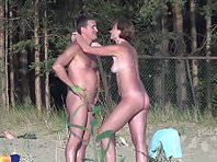 Nu2116# Some nudists may say that everyone sees them naked. They embrace each other and touch all pa