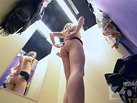 Sp2103# We hid a hidden camera in the dressing room of underwear store. The result is a great video
