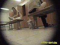 Lo1087# Voyeur video from locker room