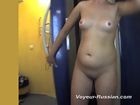 Pv747# Hidden camera in the solarium. A woman with a tight body and a smooth pussy fell into the len