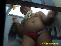 Bc934# Hidden camera in the beach cabin