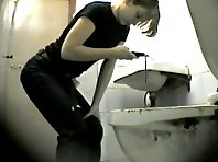 Wc149# Voyeur video from toilet