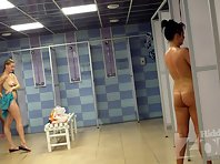 Sh1433# Some women end up taking a shower and are very close to the lens Hidden cam shower. At thi