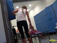 Lo1055# Voyeur video from locker room