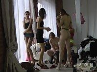 Sp1958# Indoor model agency hidden spy sex cam. She secretly filmed women who change clothes betwe