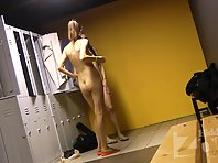 Lo1710# Beautiful breasts and firm ass filmed our hidden camera for you. Two babes in the locker roo