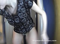 Pv387# Pretty brunette with huge boobs undresses in front of the mirror. Our operator is behind t