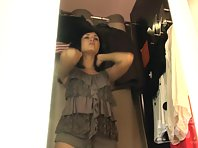 Sp1765# Nice ass and nipples sticking delight our eyes. Amateur spy sex cam filmed for us this won
