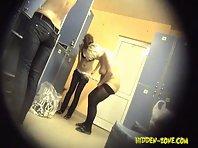 Lo1092# Voyeur video from locker room