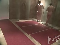 Sh1710# Three naked beauties wash opposite our hidden camera. We can observe their young bodies from