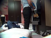 Lo1367# Our locker room voyeur cam switches the focus to the woman who undresses next door. In the