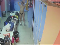 Spy camera in the women's locker room