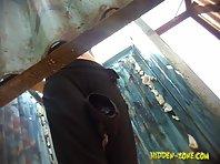 Bc973# Hidden camera in the beach cabin