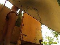 Bc1325# Hidden camera in the beach cabin