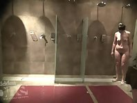 Sh1922# Some women leave the shower, others come in. Some boobs and butt are replaced by others - yo