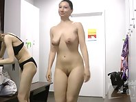 Lo1722# Two students in the locker room. One of them has gorgeous big tits. And I want them to touch